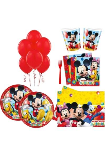 Pembe Mavi Miki Mause Konsept Doğum Günü Parti Süsü 8'li Set