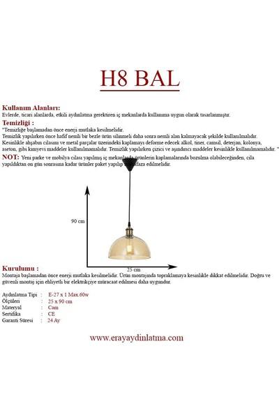 Eray Aydınlatma H8 Bal Rengi Tekli Avize