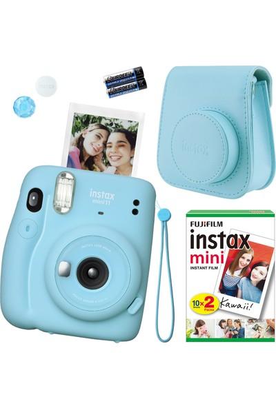 Fujifilm Instax Mini 11 Mavi Fotoğraf Makinesi Seti 4