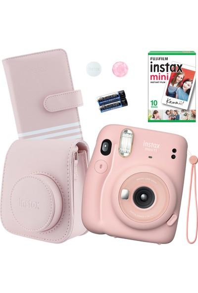 Fujifilm Instax Mini 11 Pembe Fotoğraf Makinesi Seti 2