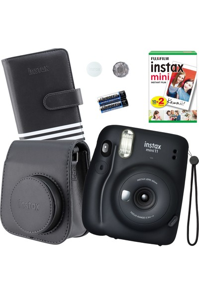 Fujifilm Instax Mini 11 Siyah Fotoğraf Makinesi Seti 1