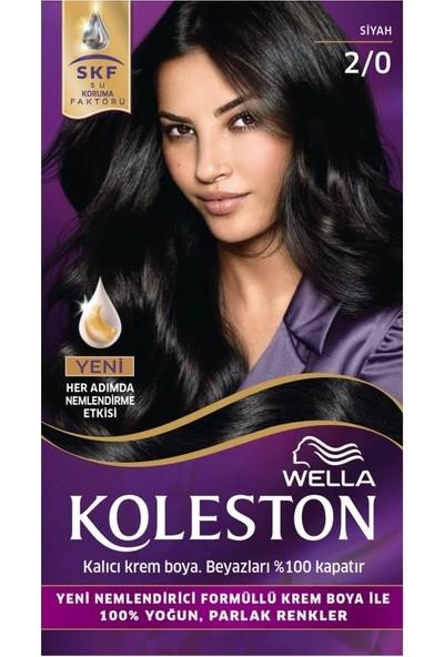Wella Koleston Kit Saç Boyası 2/0 Siyah