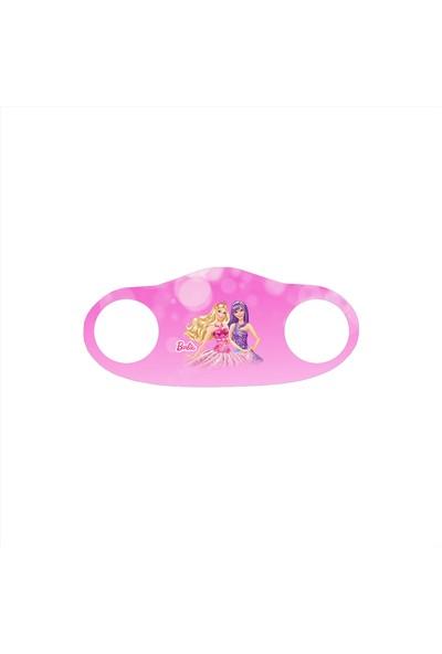 Alışveriş Burada Barbie Baskılı - Çocuklar Için Yıkanabilir Koruyucu Nano Maske 5'li Paket