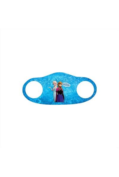 Alışveriş Burada Frozen Baskılı - Çocuklar Için Yıkanabilir Koruyucu Nano Maske 5'li Paket