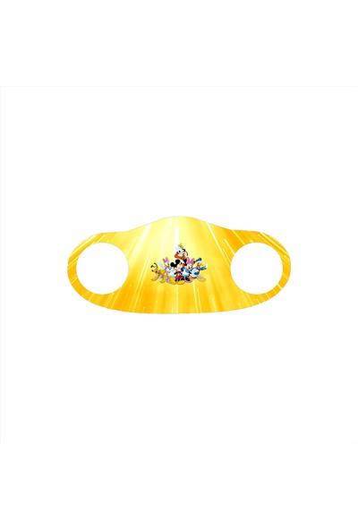 Alışveriş Burada Mickey Mouse Baskılı - Çocuklar Için Yıkanabilir Koruyucu Nano Maske 5'li Paket