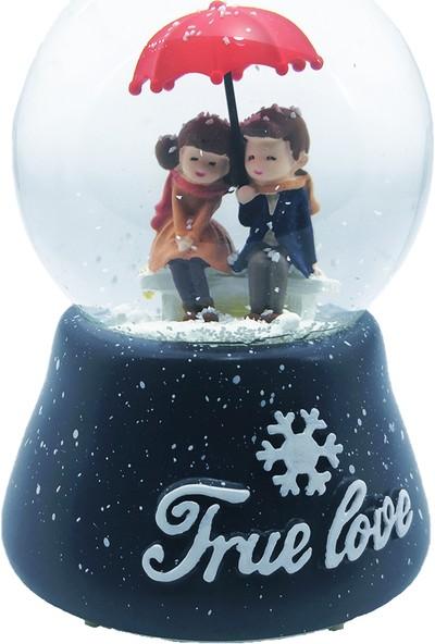 Mankan True Love En Romantik An Motorlu Püskürtmeli Işıklı Müzikli Kar Küresi