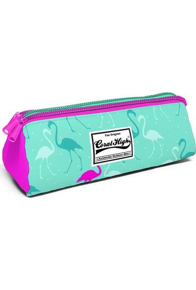 Yaygan Coral High Kids Dört Bölmeli Flamingo Ilkokul Sırt Çantası Beslenme Kalemlik Set 23111