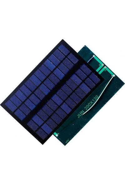 Emay Center Güneş Paneli 20 x 13 cm 12V 500mAh + ve - Uç Kablolu Solar 6W