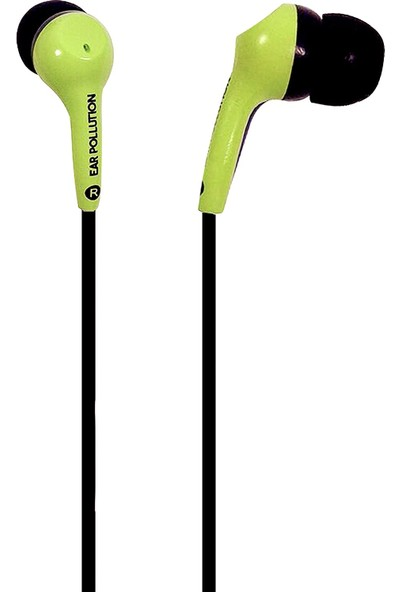 iFrogz EarPollution Bolt Mikrofonlu Kulakiçi Kablolu Kulaklık - Yeşil