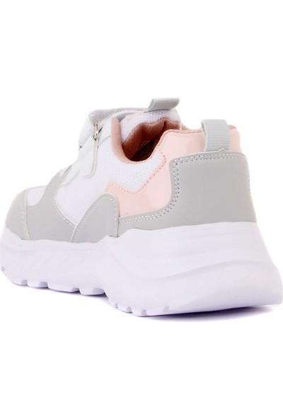 Cool 20-S06 Beyaz-Pembe Kız Çocuk Günlük Spor Ayakkabı