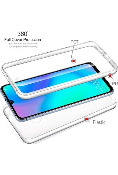 Gpack Huawei P40 Lite E Kılıf Ön Arka Silikon Koruma Şeffaf