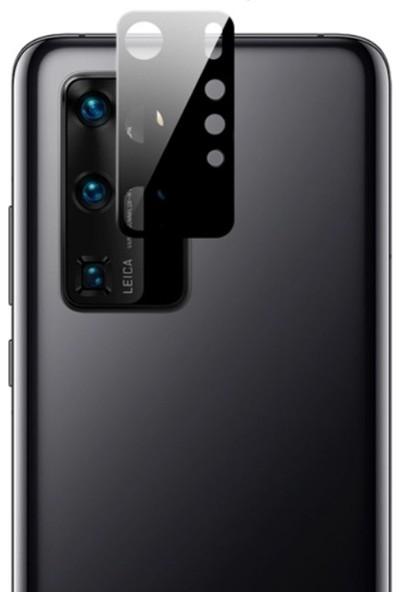 Gpack Huawei P40 PRO Kamera Lens Koruyucu Metal Siyah