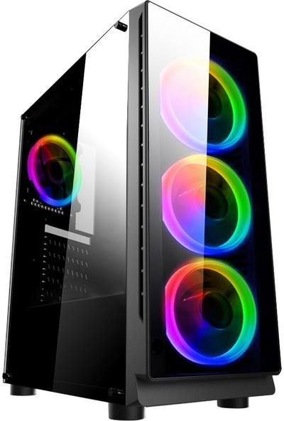 """Dragos ATM9921285 Intel Core i5 9400f 8GB 240GB SSD 4GB RX550 Freedos 23.8"""" Curved FHD Oyun Bilgisayarı"""