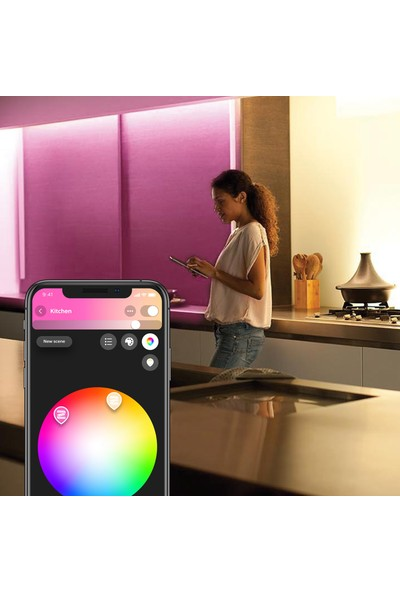 Philips Hue Akıllı LED Şerit 2 m V4 Bluetooth Özellikli Güç Adaptörü Dahildir