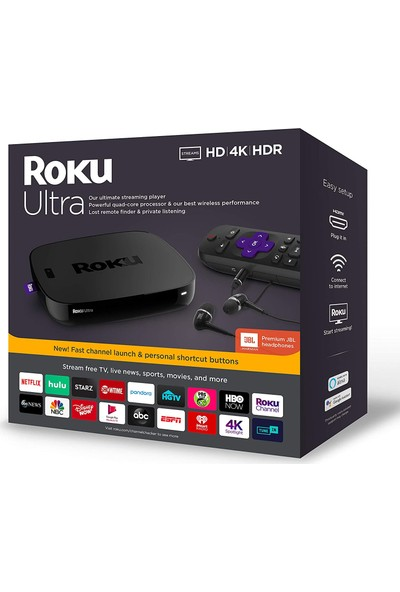 Roku Ultra Streaming Media Player 4K/HD/HDR Premium (Yurt Dışından)