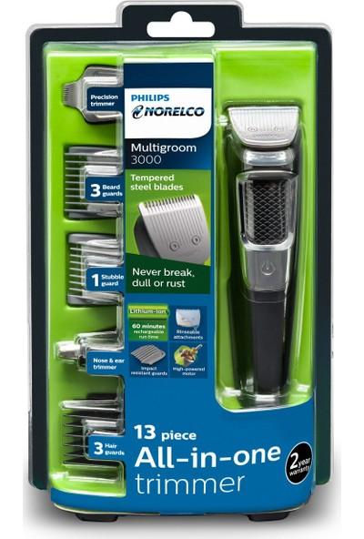 Philips Norelco MG3750 Multigroom Erkek Saç Sakal Bakım Kiti 13'ü 1 Arada (Yurt Dışından)