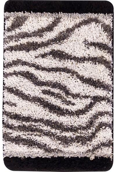 Evden Avm Kaymaz Taban Banyo Halısı Siyah 50 x 80 cm