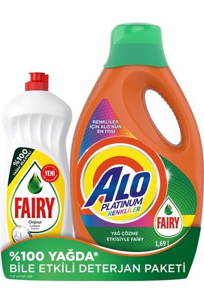 Alo Platinum Fairy Etkili 26 Yıkama Renkli + Fairy 650ml Limon