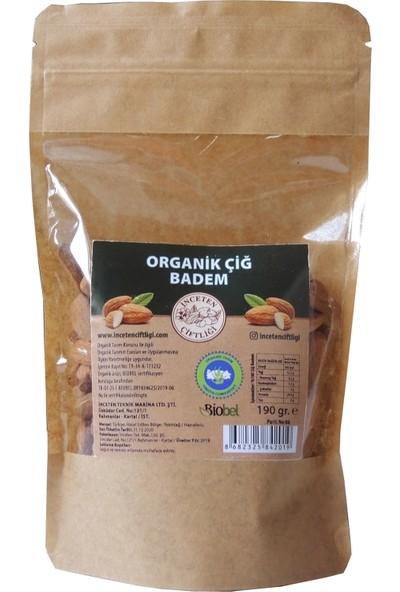 İnceten Çiftliği Organik Sertifikalı Yerli Çiğ Badem 190 gr