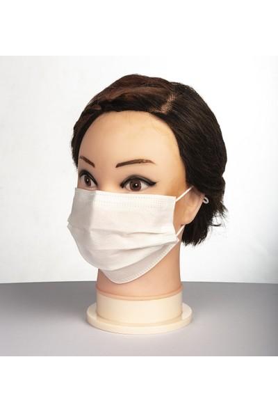 Emr Natural 3 Katlı Lastikli Telli Cerrahi Ultrasonik Maske 50 Adet 2'li