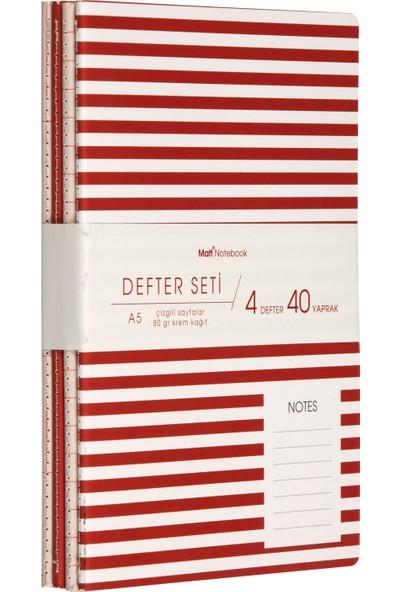 Matt Notebook Defter Seti 4'lü