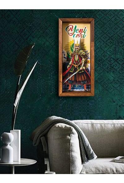 Arti2tr Dekoratif Yeniçeri Temalı 3D Duvar Saati