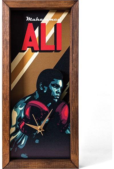 Arti2tr Dekoratif Muhammed Ali Temalı 3D Duvar Saati