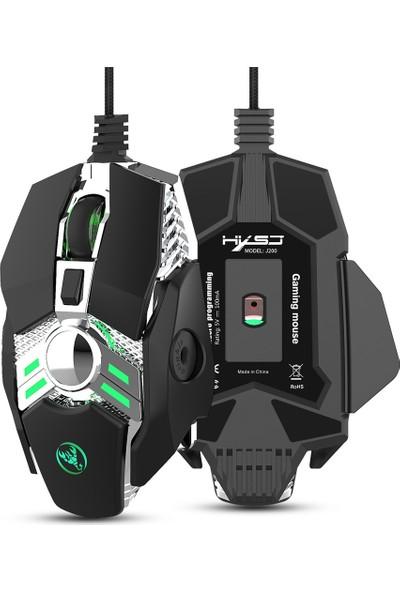 Hxsj J200 Kablolu Gaming Mouse 7 Tuşlu (Yurt Dışından)