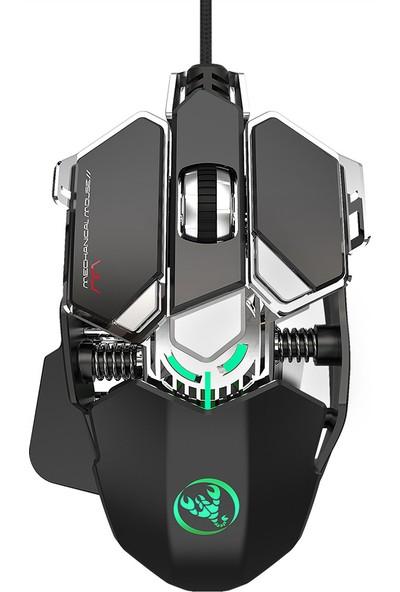 Hxsj J600 Kablolu Gaming Mouse 9 Tuş Makro (Yurt Dışından)