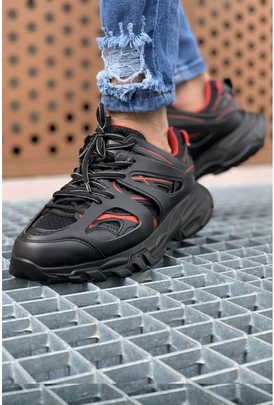 Chekich CH301 St Erkek Ayakkabı Siyah - Kırmızı