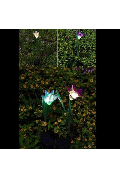 Bimbambom Solar Bahçe Lambası Zambak 7903 1 Dal, Dekoratif Bahçe Aydınlatma