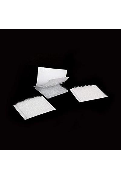 Denge Kare Kesim Cırt Bant, Arkası Yapışkanlı, 2X2 Cm Beyaz 1000 Adet Halka+Kanca Takım