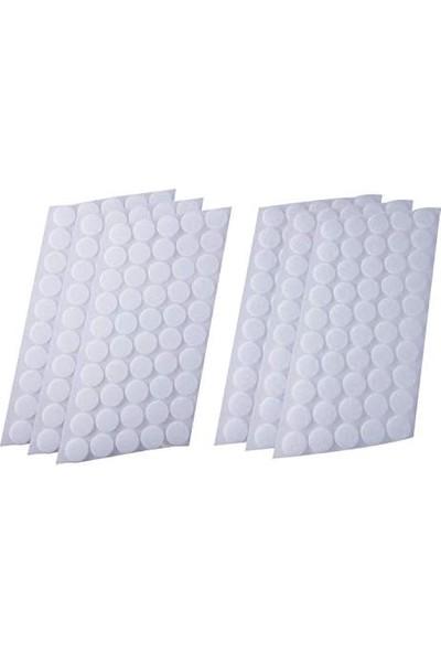 Denge Yuvarlak Kesim Para Para, Cırt Bant, Arkası Yapışkanlı Beyaz 1,5 Cm Çapında 100 Adet Dişi-Erkek Takım