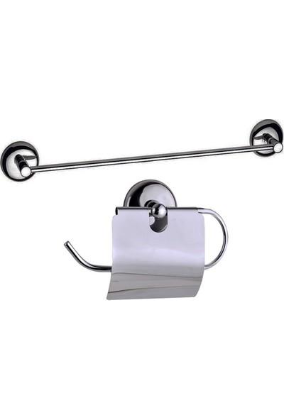 Fixer365 Uzun Havluluklu Banyo Aksesuar Seti 2'Li
