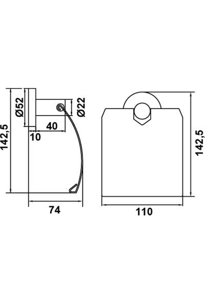 Hafele Abstract Tuvalet Kağıtlığı, Parlak Krom