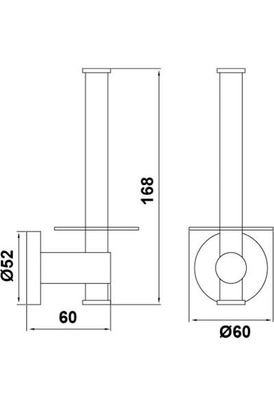 Hafele Abstract Yedek Tuvalet Kağıtlığı,Par.Kr