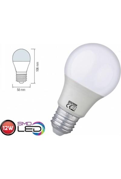Horoz 5`Li Paket 12W Led Ampul E27 6400K Beyaz Işık Premier-12