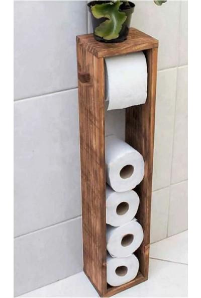 Hous Mobilya Wc Kağıtlık Tuvalet Kağıtlığı Ahşap Banyo