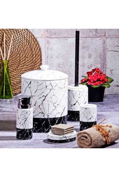 Kosova Kitchen World Bny-303 5 Parça Seramik Banyo Seti Beyaz