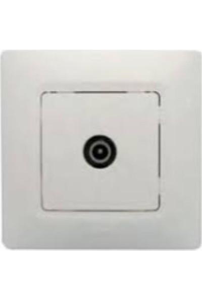 Legrand Salbei Tv Priz Geçişli 10Db Beyaz 3245067671221 Çerçevesiz