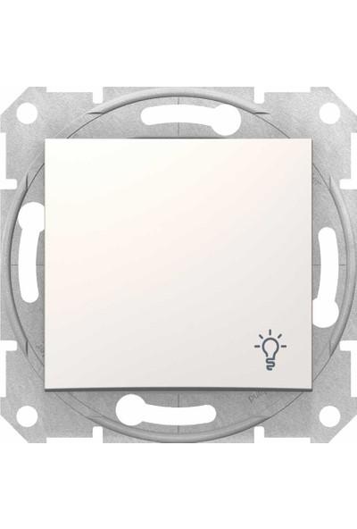 Schneider Electric Sedna Light Butonu Lamba İşaretli Krem 8690495033052