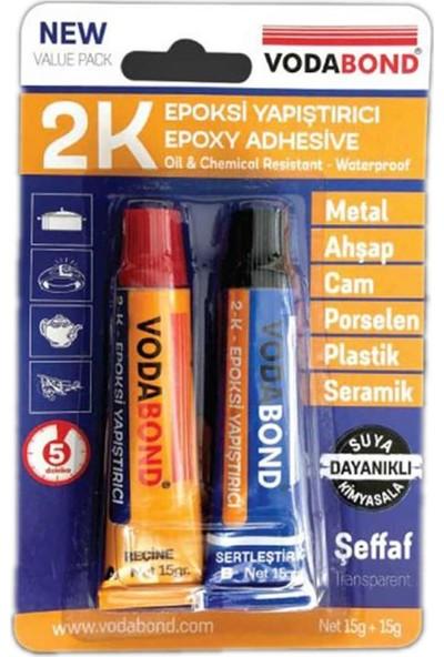 Vodabond Seramik Ahşap Metal Plastik Cam Çelik Epoksi Yapıştırıcı 15+15 Gr