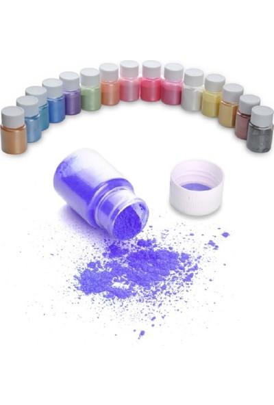 Brtrkimya Brtr 15 Renk 10 Gr Sedefli Epoksi Metalik Toz Pigment Seti