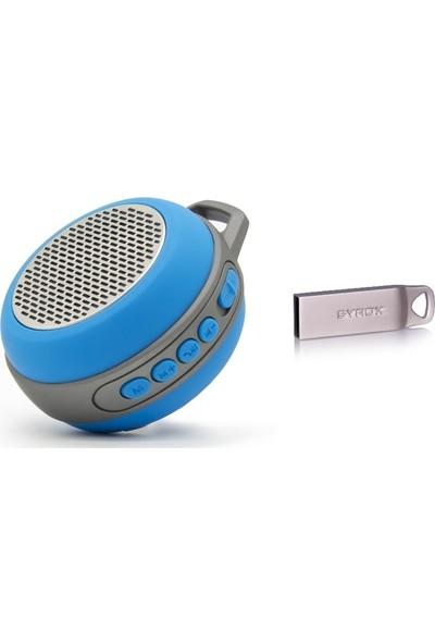 Syrox S12 Mini Bluetooth Hoparlör Ses Bombası ve 8gb Flash Bellek