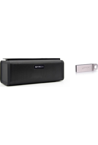 Syrox S14 Büyük Bluetooth Hoparlör Ses Bombası ve 8 GB Flash Bellek