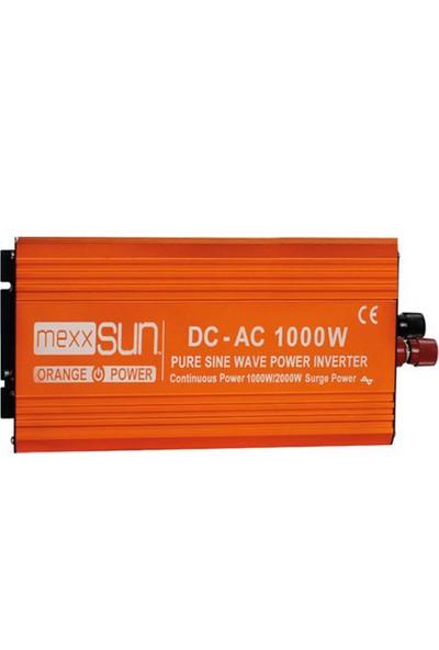 Mexxsun 1000 W 12 V Tam Sinus Inverter