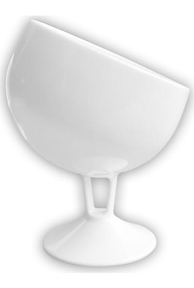 Dereli Mika Yarım Ay Ayaklı Magnolia Cup 6'lı Tatlı Bardağı Beyaz