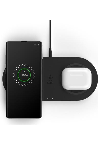 Belkin 10W Ikili Hızlı Kablosuz Şarj Cihazı-Siyah