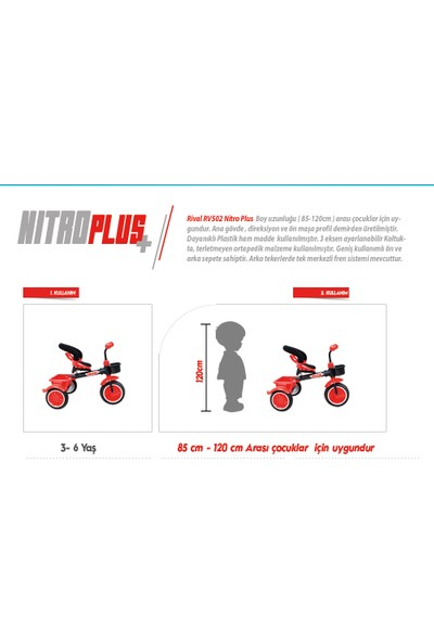 Rival RV502 Nitro Plus 3 Tekerli Çocuk Bisikleti
