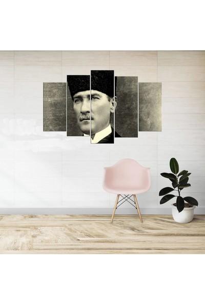 Markapia Home Mustafa Kemal Atatürk 5 Parçalı Mdf Tablo
